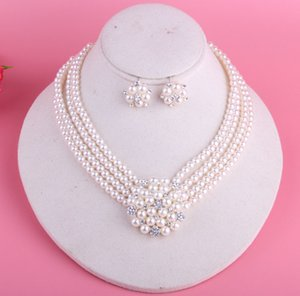 Shinning Pearls Bridal Jewelry 2 Pieces Sets Necklace Earrings Bridal Jewelry Bridal Accessories Wedding Jewelry T221198