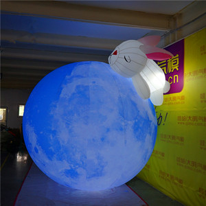 Coniglio 6m alta Gaint gonfiabile Palloncino Pianeta Luna con il LED per Easter Bunny Decoration gonfiabile Planet