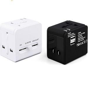 International Travel Adaptor EU AUS UK US Plug Socket Universal Fast Charger Global Travel Adapter With dual Port USB