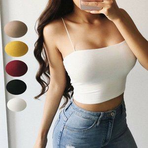 Sexy Womens Slim And Fit Skinny Sexy V Neck Beading Tops Tank Crop Shirt Bustier Vest Crop Top Bralette Blouse R1307