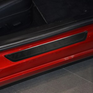 Car Dry Carbon Fiber Exterior Door Sill Cover Protection Trim Car Supplies for Tesla Model 3 2018-2019