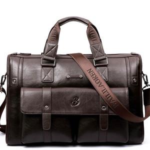 Leather Laptop Bag morbido della cartella degli uomini degli uomini di modo di Borsa per computer / Ufficio Borse Messenger per uomo Cartelle documento Totes
