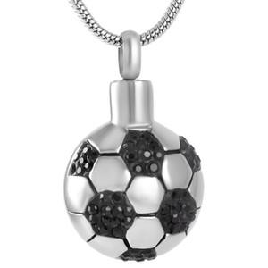 AirAz019 Cool Boy Loved Football Collier Pendentif Urne Commémorative Bijoux De Crémation Gardez Vos Cendres Enfants En Sécurité