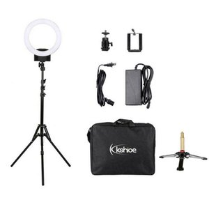 """12"""" Dimmable LED Ring Light w  Light Stand + Table Top Stand for Video Shooting"""