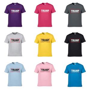 19Ss Luxo remendo Europeia Mercerização Logo Trump T-shirt Topstoney mercerização Mens Cotton Designer Trump camisetas Hfwptx355 # 159