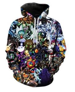Unisex Yu-Gi-Oh! Sudaderas con capucha de impresión 3D Sudadera con capucha Casual Hombres Ropa de mujer Estilo Harajuku Pullover Chaquetas Marca Escudo de calidad YT0186