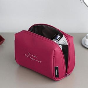 Simple Cosmetic Bag Simple Temperament Ladies Portable Large-capacity Storage Bag Wash Cosmetic Shell Semicircle