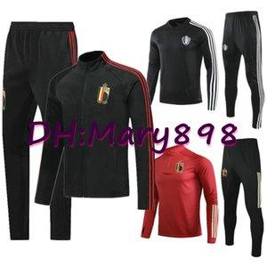 Супер хорошее качество 2020 Бельгия футбольные наборы / спортивные костюмы 2020 Лукаку Хазард Компани Де Брюйне Мертенс Бельгия тренировочная одежда S-XL