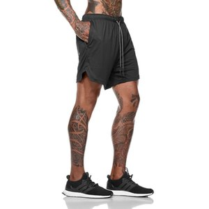 Fashionable sports shorts men design liner quick-drying running casual shorts breathable training pants Size M-3XL-1