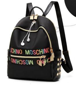 Borsa ragazze Sacchetti di scuola F delle nuove donne leggeri e comodi scuola borsa portafogli di corsa della spalla dello zaino di modo di Oxford stoccaggio panno
