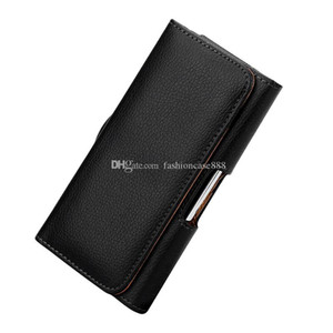 La caja del clip de la correa de cuero universal de la cintura bolsa del bolso de la cubierta para el teléfono celular 3.5-6.3 pulgadas iPhone 11 XR XS Max Samsung Nota 10 S10 Huawei LG Xiaomi