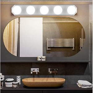 LED 12V Makeup Mirror Light Bulb Hollywood Vanity Lights Stepless Dimmable Wall Lamp 5 Bulbs Kit for Dressing Table