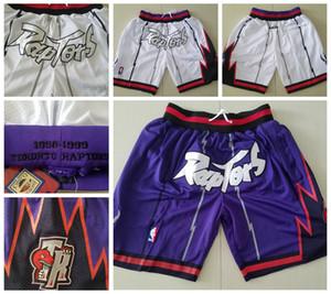 Juste Don Vince Carter Tracy McGrady TorontoRaptors Mens Squad Short Sweatpants Gym Fitness Pantalons pantalones cortos de Baloncesto