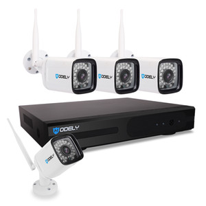 Hodely 8CH 1080P NVR Wifi Set 720P 3,6 millimetri 36-LED impermeabile IP Camera spina USA