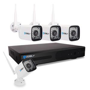 Hodely 8CH 1080P 720P NVR Wifi Configurar 3.6mm 36-LED a prueba de agua Cámara IP enchufe de EE.UU.