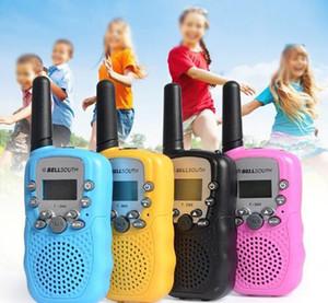 T388 bambini Walkie Talkie Bambini Giocattoli Radio 0.5W 22CHs 2 Way Radio retroilluminato a cristalli liquidi bambini walkie-talkie Flashligh ricetrasmettitore portatile