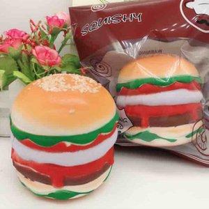 Jumbo mole bonito Hamburger Plush Pão Perfumado lenta Nascente Crianças Toy Home Decoração