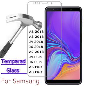 2pc en verre trempé pour Samsung Galaxy A6 A8 A7 2018 écran protecteur en verre de protection Samsung A6 A8 J6 J4 plus A7 2018 verre