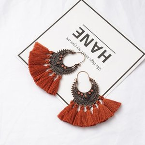 Fashion Handmade Tassel Earrings for Women Bohemia Ethnic Vintage Boho Fringe Statement Earring Charm Jewelry Gifts Dropshipping