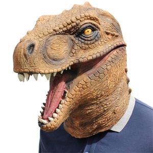 1 Pc Halloween Mask Fancy Dress Emulsion Parti Props Dinosaur Coiffures tête Couverture pour hommes et femmes Tyrannosaurus Rex Mask