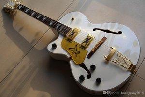 Nouvelle arrivée Cnbald 6120 Jazz guitare électrique En gauchère blanc 121222