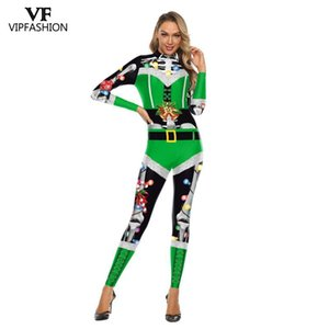 VIP MODA 2019 Disfraces nueva Navidad del mono para las mujeres de Cosplay del partido de Navidad Año Nuevo Ropa Sexy Bodysuit
