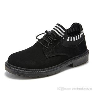 Cheap 2019 Autumn and winter new Martin boots men cotton plus velvet warm boots rivet men shoes
