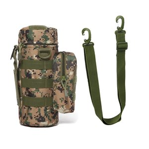 Travel Tool Kettle Set Outdoor Tactical Military Molle System Water Bags Shoulder Bottle Holder EDC Multifunctional Bottle Pouch