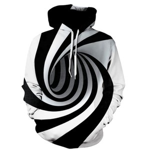 Erkek Hoodies Tişörtü KANCOOLD Kadın Erkek Erkek 3D Dijital Baskılı Kazak Streetwear Harajuku Büyük Boy Zip Up Ceketler Tops 2021 823