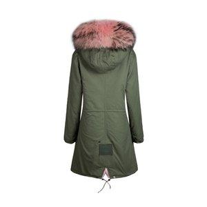 Winter New arrival light pink Mrs fit style coat long slim faux fur inside jacket