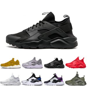 2018 Colores rojo Huaraches 4 IV 1.0 I Zapatos para correr para hombres Mujeres Air Huarache Run Ultra Transpirable Mesh Cushion Sneakers 36-45