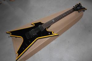 Freies Verschiffen neue Ankunfts-6 Schnur Individueller Dean DIME Razor Schwarze E-Gitarre Musikinstrumente