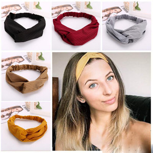 Böhmische feste Stirnband-elastische Kopfbedeckung-Kopf-Verpackung für Frauen Gilrs Haarschmuck gestreiften Haarbänder Mix Farben