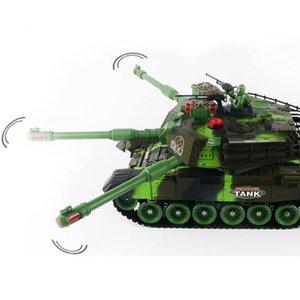 2020 Nuova RC Radio Guerra Carro armato Tactical Battle principale veicolo principale Military Battle Tank modello sonoro Recoil elettronici Hobby Boy Toys