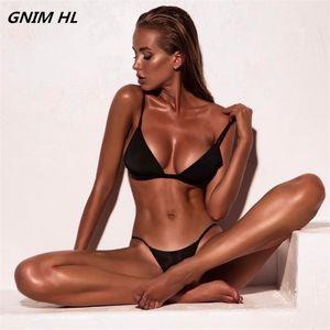 GNIM reizvolle festen Bikini-Badeanzug Frau zwei Stücke 2020 Badeanzug für Frauen Bademode Bikini brasilianischen Beachwear-Badeanzug