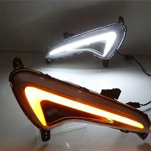 2014 2015 2016 Hyundai Solaris için Işık Gün Işığı sarı Sinyal lambası araba Şekillendirme ışıkları Running 1 Çifti LED DRL Gündüz