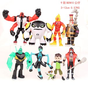9pcs set Ben 10 Ben PVC Action Figure 10 Ben Tennyson Four arms Grey Matter Kineceleran Diamondhead Heatblast Kids Toys Gifts