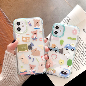 Lovely cartoon iphone11pro max mobile phone case iphone xs 8plus soft shell 7 plus protection