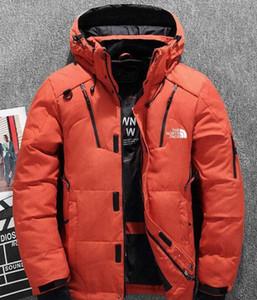 KUZEY ceketler Kamp Windproof Ski aşağı 2019 Kış erkekler Aşağı Kapüşonlular Beyaz ördek Aşağı Coat Açık Casual Kapşonlu Spor yüzü sıcaktır