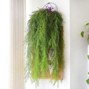Planta Falso NEW-105cm Artificial planta real Imprensa Pine Needle para Home Garden Decoração Wall Hanging Vine Artificial