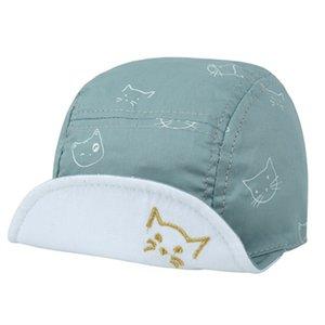 DreamShining 패션 고양이 아기 모자 남여 소녀 소년 야구 비니 만화 여름 태양 모자 신생아면 챙 모자 캡 모자