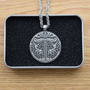 Irminsul Viking Yggdrasil Deer Eagle Necklace Tree of Life Pendant with Exquisite Box