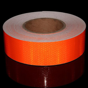 Freeshipping 45Mx5Cm Orange Reflective Warning Tape Adhesive Car Truck Conspicuity Tape Car Accessories