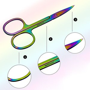 Colorful Stainless Steel Eyebrow Scissor Hair Trimming Beauty Makeup Nail Dead Skin Remover Scissor Makeup Tool