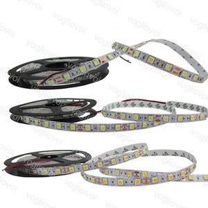 Luz de tira llevada 500M RGB Blanco cálido Luz de tira LED blanca 5M Supler Brillante 5050 SMD 300 leds DC12V DHL