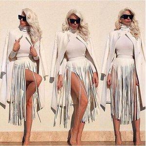 Ceinture À Franges En Cuir Bohème Noir Blanc Faux Ceintures 2017 Femmes Taille Haute Large Ceinture Longue Taille Mode Filles Pantalon Bande