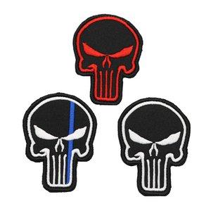 Nuovo zaino ricamato Patch Punisher Crimson Black Blue Stripe Badge Zaino tattico uniforme militare adatto per l'abbigliamento