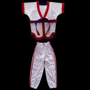 Lutte chinois Uniforme Costume en coton Vêtements Pantalons Top Costume de sport pour Taichi Judo Taekwondo Jitsu Formation Concours