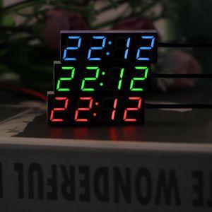 Onever بقيادة درجة الحرارة على مدار الساعة ترمومتر الفولتميتر أدى العرض الرقمية على مدار الساعة الموقت الرقمية أخضر أزرق الضوء الأحمر