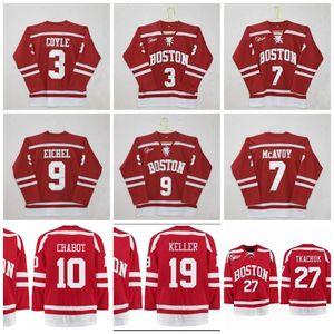 Хоккей Бостонского университета 9 Джек Эйчел 7 Чарли МакЭвой 3 Чарли Койл Клейтон Келлер Диффли Томас Шабо Брэди Ткачук Джерси NCAA